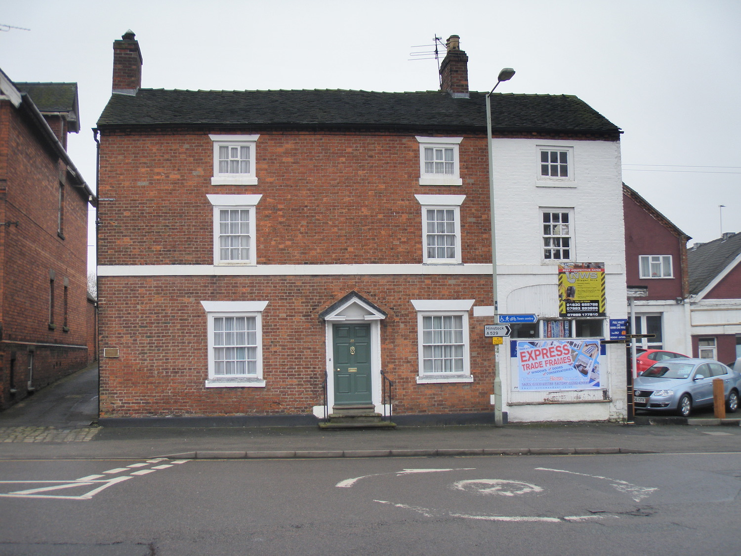 Georgian Grade II listed town house in Market Drayton